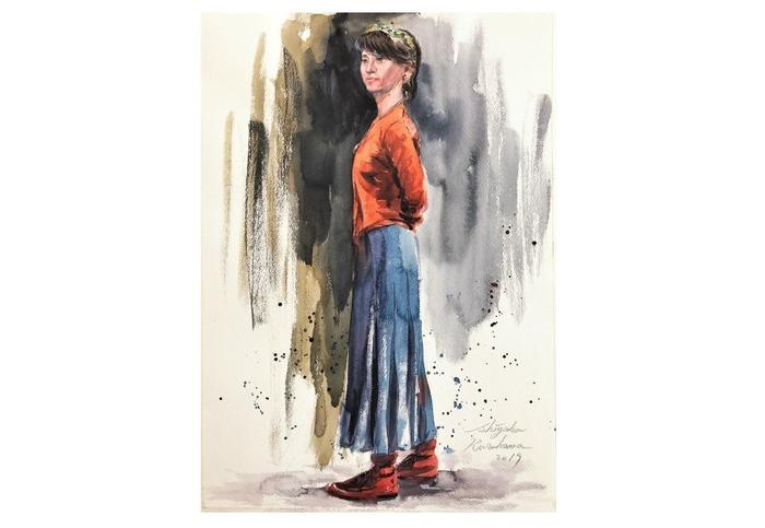 地元人物写生会「秋色の彼女」を描く&凄すぎ!!アートモデルアプリ「Art Pose」
