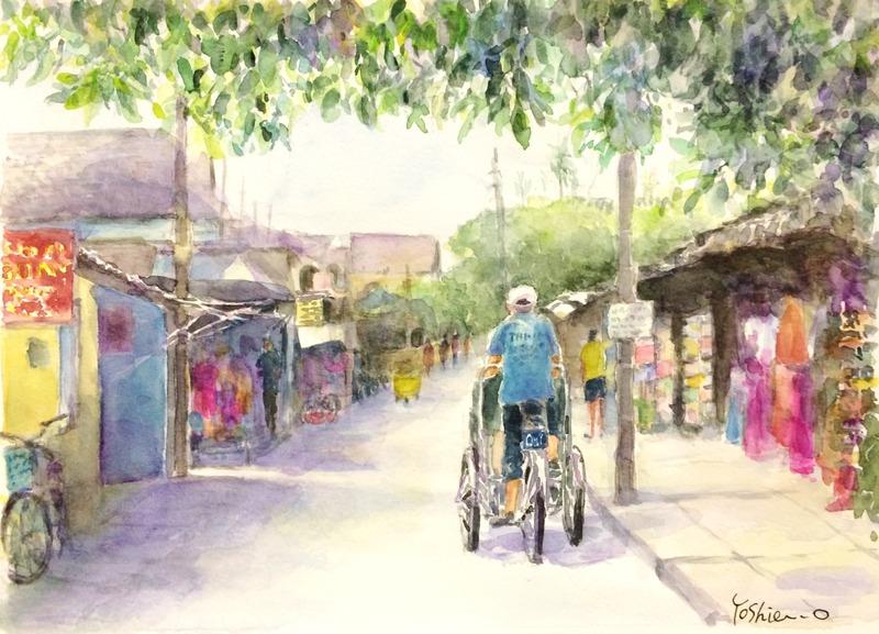 25OYさん透明水彩画作品「ベトナム」