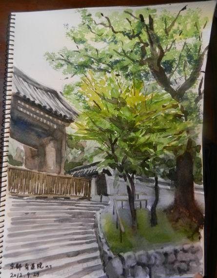 スケッチうまくいかなくても…「次があるさ」ということで 京都青蓮院