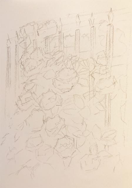 透明水彩「紫陽花」野村重存本30頁 (2)
