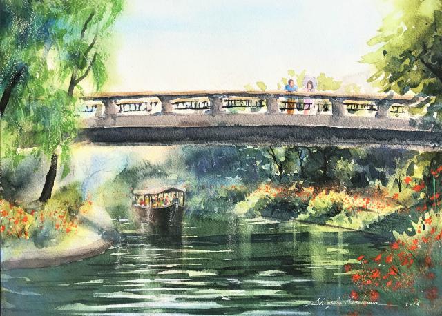 【動画】「伏見の運河を描く」透明水彩メイキング動画を作りました☆