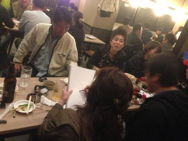 23徳田さん似顔絵宴会3