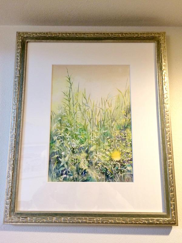 今年のお嫁入り透明水彩画作品「野辺」&コラム「売る絵を描くこと」