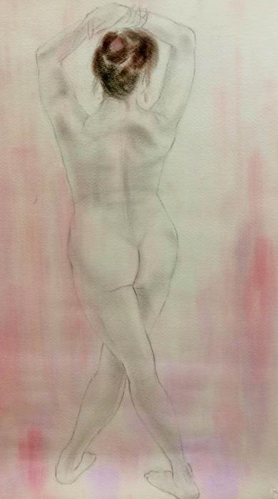 裸婦描画教室最終日☆