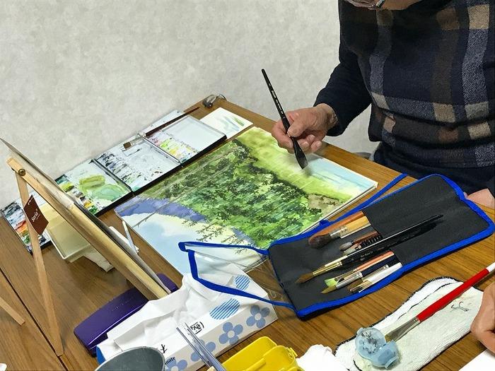 2月2週目の水彩画教室&マイブーム「早朝のコメダ珈琲」
