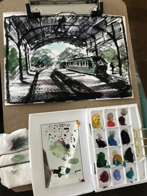 くろかわ透明水彩画教室 セリアの筆ペンで「トーナルスケッチ」のススメ