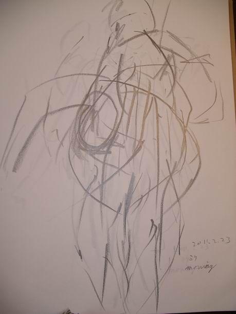 初めてのミケランジェロ裸婦クロッキーでフラフラに