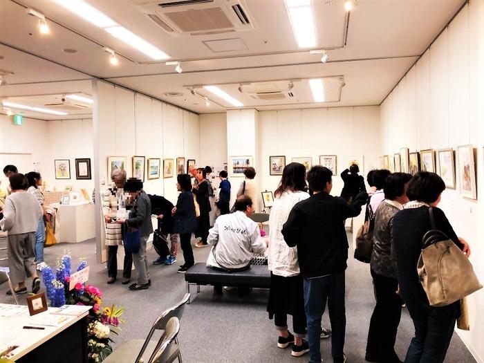 20019.04黒川水彩教室展の様子 (20)