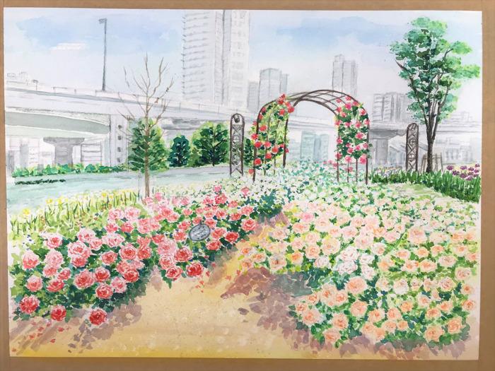 20180313Hさん透明水彩画