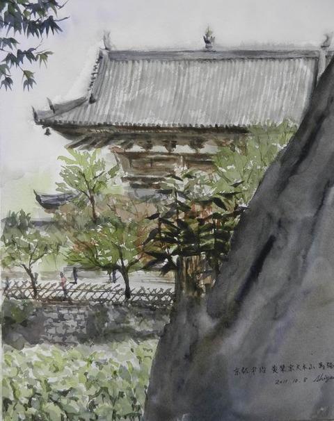 ホルベインエンジョイペインティング 京都宇治 萬福寺に参加しました♪ & 散骨イラストレーターはN女史?