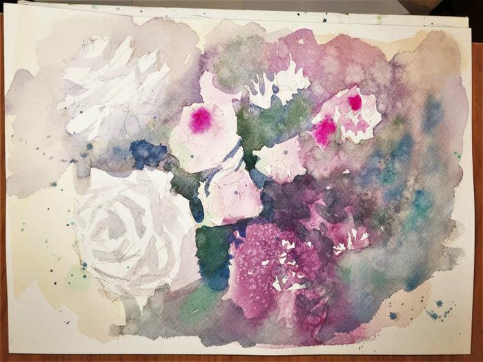 5月19日水彩生配信Let's paint watercolor with me! 90min