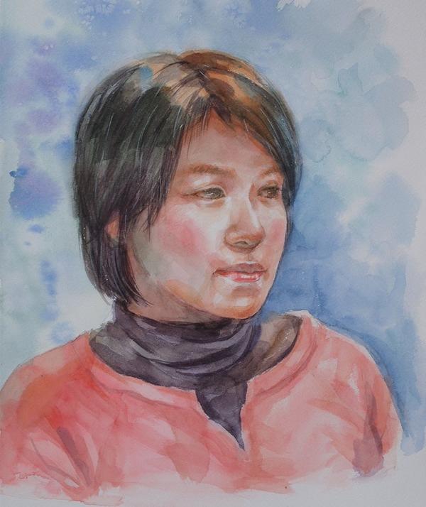 絵画友達の徳田明子さんが私の似顔絵を描いてくださいました♪