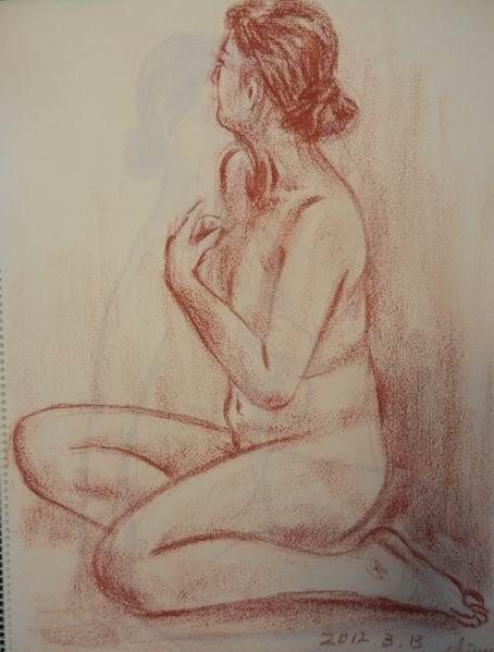 裸婦描画教室の展覧会 & 断捨離続行中