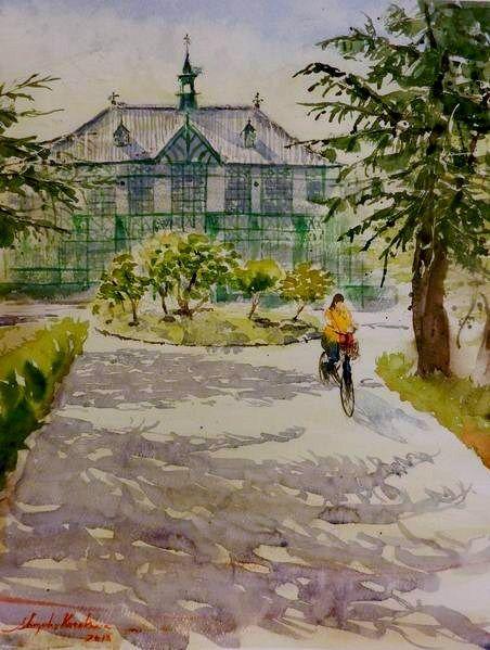 第三回奈良きたまちスケッチ会参加レポート♪ 奈良女子大学で描きました☆