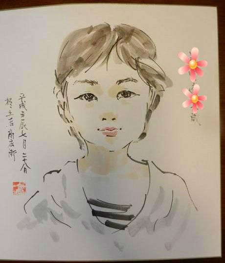 """ブログ""""蟾咳道人反省記""""のsengaiさんに似顔絵を描いてもらいました♪"""