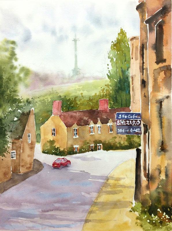 23ならざき講座課題「オックスフォードの風景」14回目途中 (2)