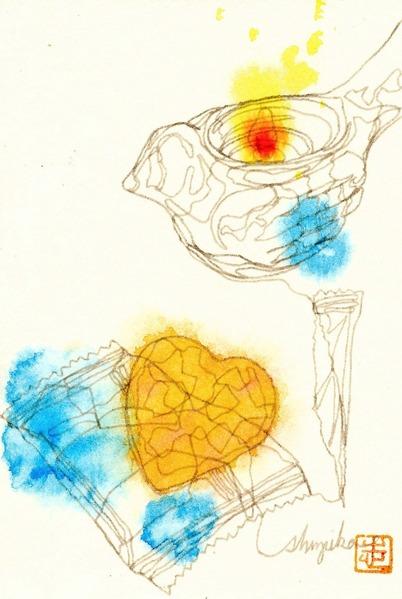 14一本線ドローイング#7「ガラスのハト」 (1) - コピー