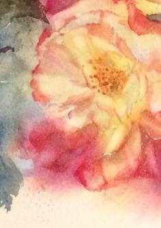 09透明水彩画「野薔薇」 - コピー