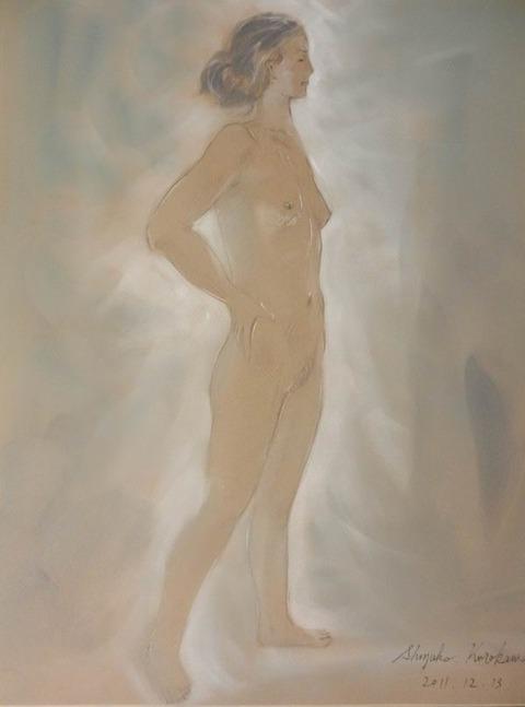 パンパステルで描く裸婦 来年4月に裸婦描画教室の展覧会決定!