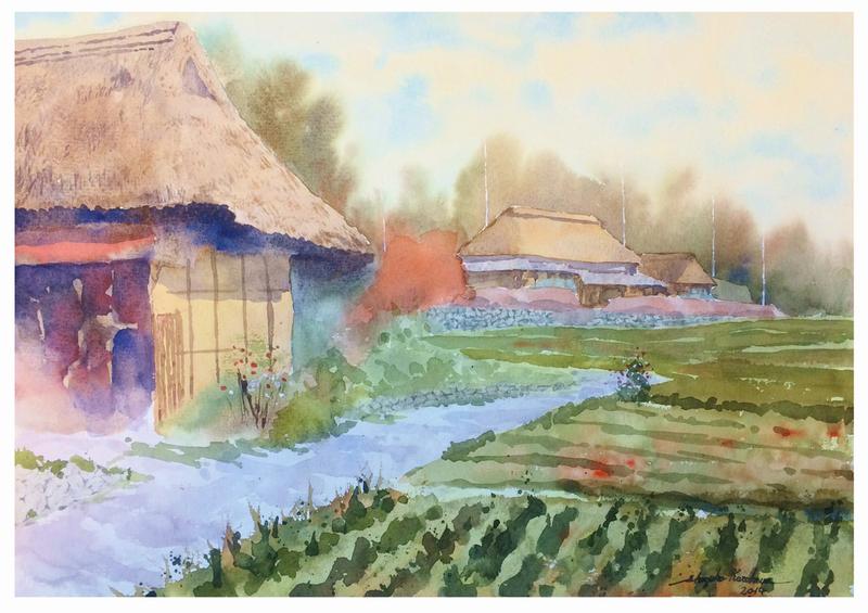 ならざき清春大阪講座課題「岡山県八塔寺の風景」完成♪