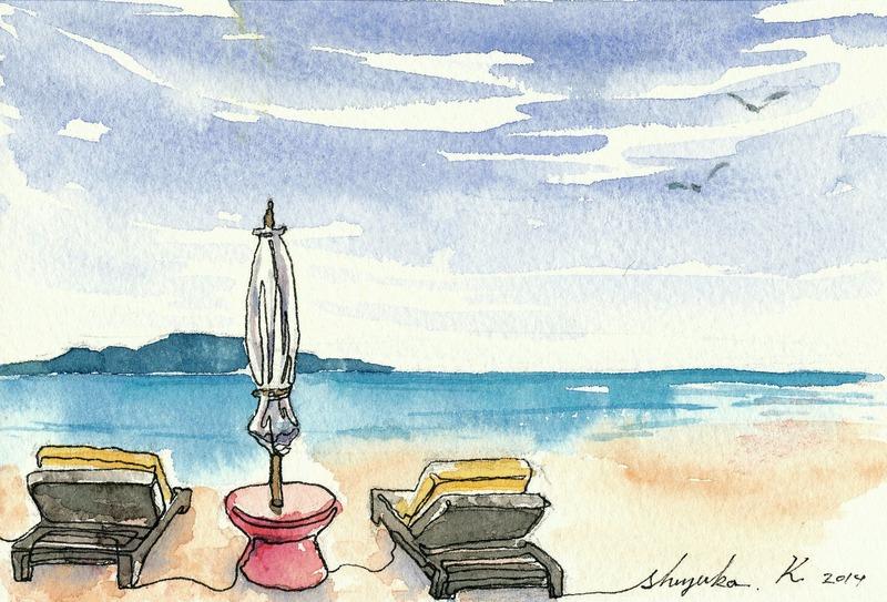 春なのに~♪砂浜ですかぁ~♪春なのに~♪夏の風景ですぅ~♪