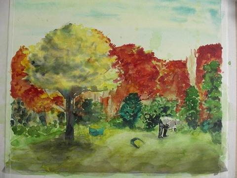 作品「三室戸寺の秋」製作途中 パート1 今度はF10サイズ