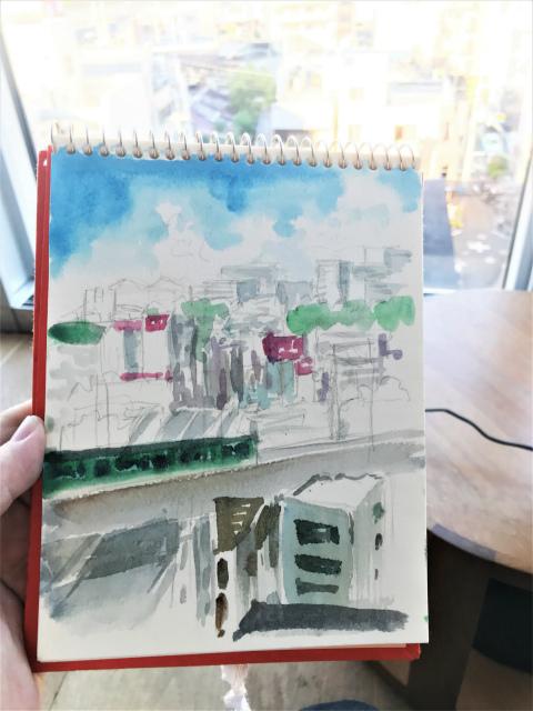 枚方F0サイズスケッチ散歩「大阪・京都・滋賀」を同時に観る景色