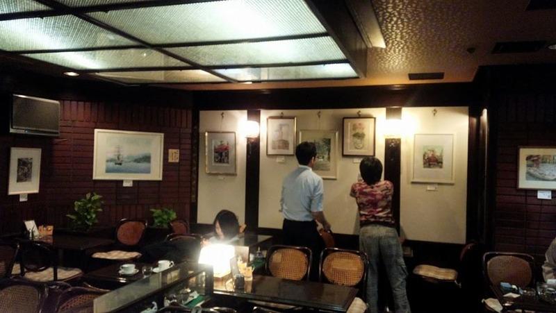 第一回KUROKAWAの透明水彩画サークル作品展始まります♪