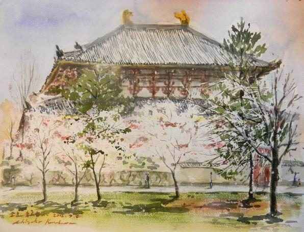 ホルベインスケッチ会 in 奈良 東大寺 ♪ でも、万華鏡で時間を忘れる(汗)