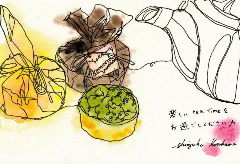 「食べる前に描く!」一本線スケッチ♪&子供の絵「青龍と白虎」