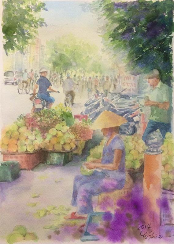 11月最後の くろかわ透明水彩画教室は秋の収穫祭♪