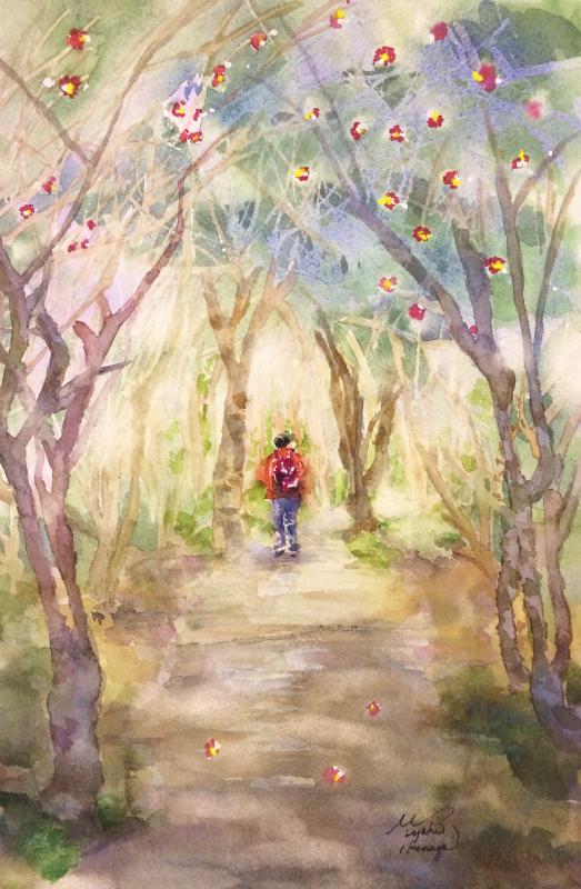 くろかわ透明水彩画教室「椿の森(高知)」仮題&今年は○○頑張ります!!