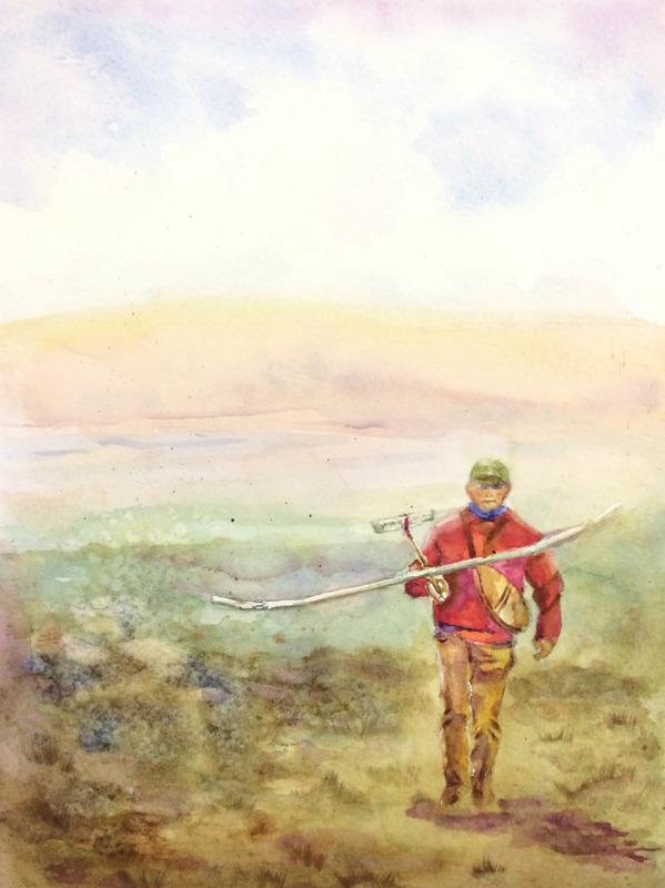 くろかわ透明水彩画教室Kさん作品「草原にて(仮題)」&アートエッセイ「見栄えのする絵 その2」