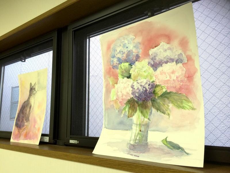 くろかわ透明水彩画教室 DMできました!&画像加工遊び