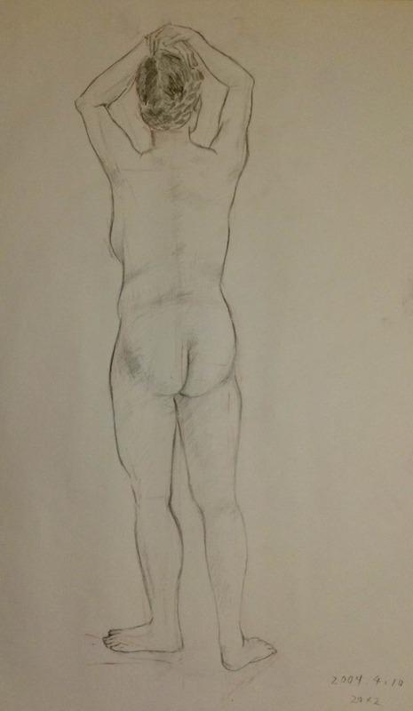 4月から人物画の教室に通い始めました♪
