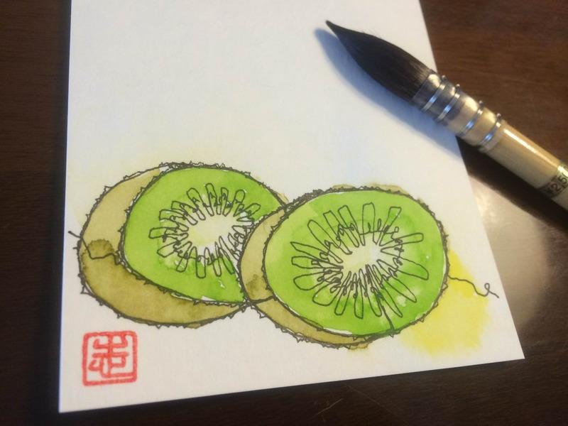 """""""鼻歌モード""""de一本線スケッチ#1「はじめました☆」"""