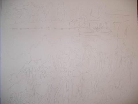透明水彩画「国立明石海峡公園」 (1)