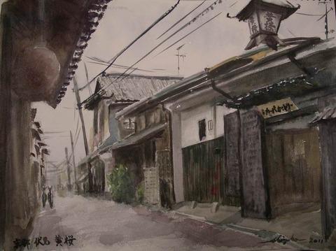 透明水彩スケッチ「京都 伏見 黄桜」