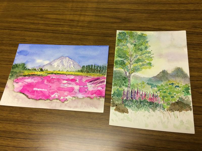 05Uさん透明水彩画作品「北海道の思い出」