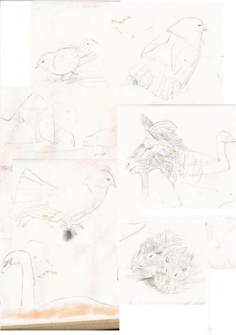 子供動物園 素描