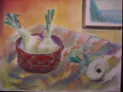 パンパステル画「静物」
