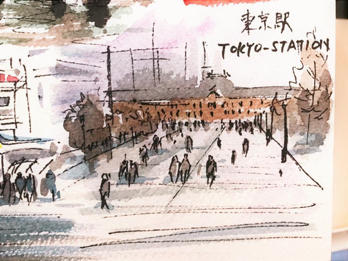 2020.01.11東京ペン水彩で街角クロッキー (11)