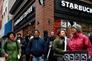 Starbucks protest 1
