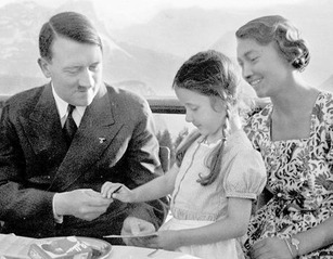 Hitler with girl
