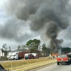 Harrison Deal car crash burning