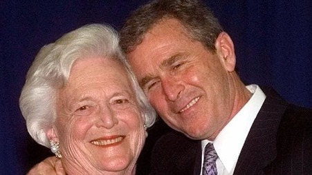Barbara Bush & son 1