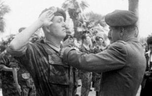 Jean Marie Le Pen in military