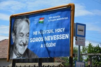 George Soros billboards