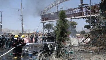 suicide bomb near Afghan airport