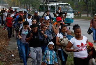 Hispanic caravan from Honduras 2
